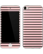 Pink and Black Stripes Apple iPod Skin