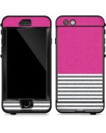 Pink and Grey Stripes LifeProof Nuud iPhone Skin