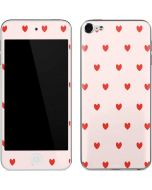 Pink and Red Hearts Apple iPod Skin