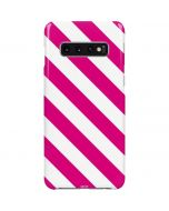 Pink and White Geometric Stripes Galaxy S10 Plus Lite Case