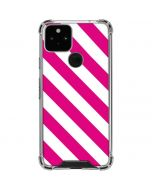 Pink and White Geometric Stripes Google Pixel 5 Clear Case