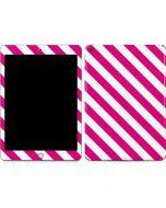 Pink and White Geometric Stripes Apple iPad Skin