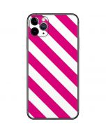 Pink and White Geometric Stripes iPhone 11 Pro Max Skin