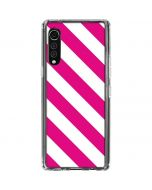 Pink and White Geometric Stripes LG Velvet Clear Case