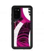 Pink and White Hipster Galaxy S20 Waterproof Case