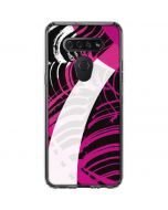 Pink and White Hipster LG K51/Q51 Clear Case