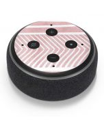 Pink and White Stripes Amazon Echo Dot Skin