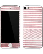 Pink and White Stripes Apple iPod Skin