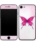Pink Butterfly iPhone 8 Skin