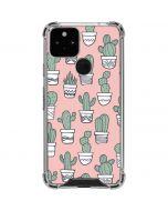 Pink Cactus Google Pixel 5 Clear Case