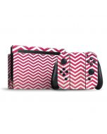 Pink Chevron Nintendo Switch Bundle Skin