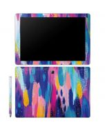 Pink Sparkle Brush Stroke Galaxy Book 12in Skin