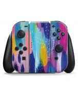 Pink Sparkle Brush Stroke Nintendo Switch Joy Con Controller Skin