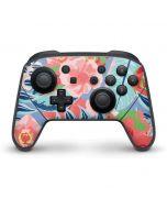 Pink Spring Flowers Nintendo Switch Pro Controller Skin
