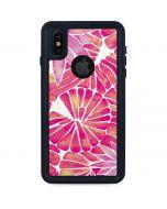Pink Water Lilies iPhone XS Waterproof Case