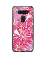 Pink Water Lilies LG K51/Q51 Clear Case