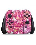 Pink Water Lilies Nintendo Switch Joy Con Controller Skin