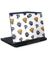 Pittsburgh Panthers Paw Prints Dell Alienware Skin