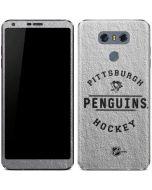 Pittsburgh Penguins Black Text LG G6 Skin