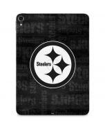 Pittsburgh Steelers Black & White Apple iPad Pro Skin