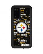 Pittsburgh Steelers Black Blast Galaxy S20 Waterproof Case