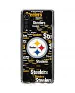 Pittsburgh Steelers Black Blast LG Velvet Clear Case