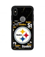 Pittsburgh Steelers Black Blast Otterbox Commuter iPhone Skin