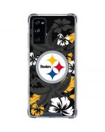 Pittsburgh Steelers Tropical Print Galaxy S20 FE Clear Case
