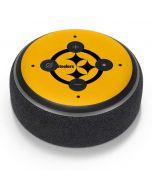 Pittsburgh Steelers Yellow Performance Series Amazon Echo Dot Skin