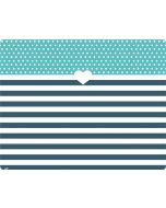 Polka Dots and Stripes Heart in Blue PS4 Slim Bundle Skin
