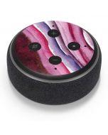 Plum Watercolor Geode Amazon Echo Dot Skin