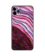 Plum Watercolor Geode iPhone 11 Pro Max Skin