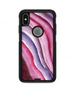 Plum Watercolor Geode Otterbox Commuter iPhone Skin