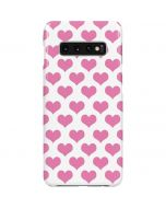Plush Pink Hearts Galaxy S10 Plus Lite Case
