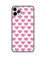 Plush Pink Hearts iPhone 11 Pro Max Skin