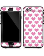 Plush Pink Hearts LifeProof Nuud iPhone Skin