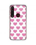 Plush Pink Hearts Moto G8 Plus Clear Case
