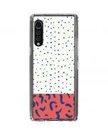 Polka Dot Split LG Velvet Clear Case