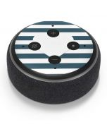 Polka Dots and Stripes Heart in Blue Amazon Echo Dot Skin