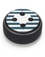 Polka Dots and Stripes Heart in Blue Amazon Echo Dot Skin