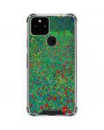 Poppy Field by Gustav Klimt Google Pixel 5 Clear Case