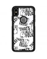 Porky Pig Black and White Otterbox Commuter iPhone Skin