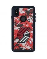 Portland Trail Blazers Digi Camo iPhone XS Waterproof Case