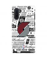 Portland Trail Blazers Historic Blast Galaxy Note 10 Pro Case