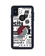 Portland Trail Blazers Historic Blast iPhone XS Waterproof Case