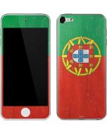 Portugal Flag Distressed Apple iPod Skin