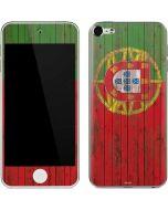 Portuguese Flag Dark Wood Apple iPod Skin