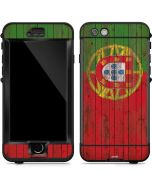 Portuguese Flag Dark Wood LifeProof Nuud iPhone Skin