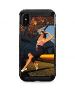 1940s Pin-Up On Stearman Biplane iPhone XS Max Cargo Case