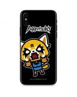Aggretsuko Fed Up iPhone XS Skin